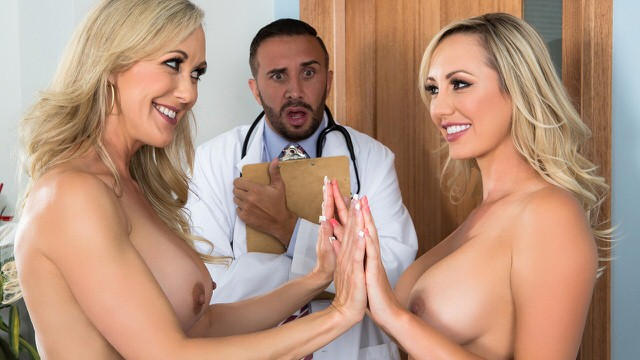 Lucky doctor gets threesome with two sexy milfs