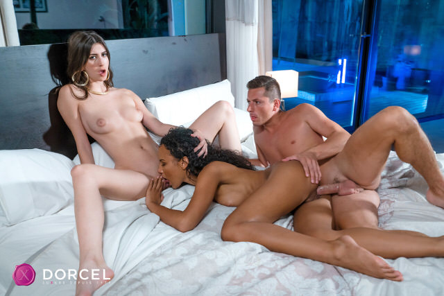 girl first Threesome xxx sex video