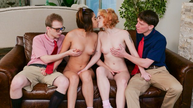 boys Switch their real sister for juicy pussy